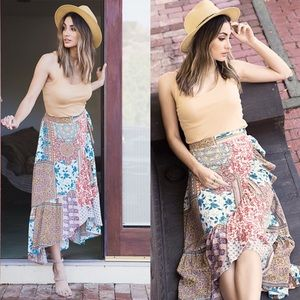 MAGGIE Print Maxi Skirt